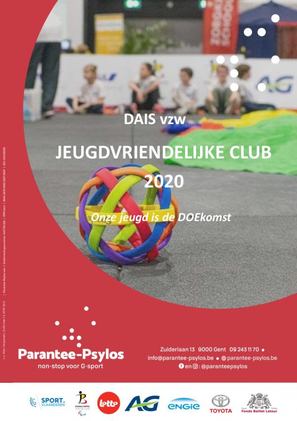 DAISvzw ontvangt 2020 jeugdtrofee.